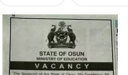 Osun state Ministry of Education Recruitment
