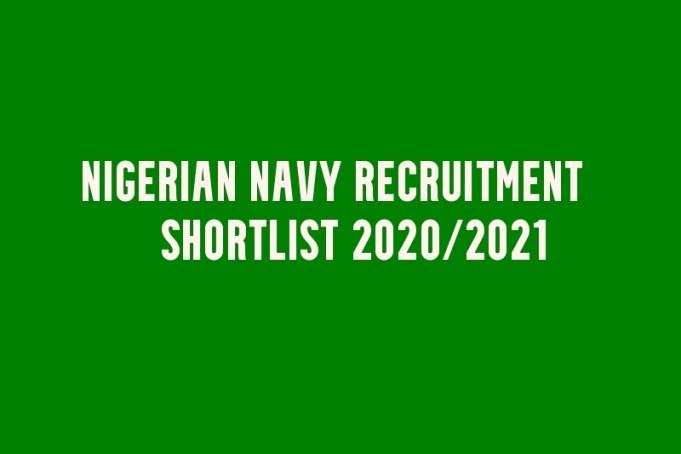 Nigerian Navy Recruitment List of Successful