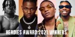 Headies Award 2021 Winners for Different Categories