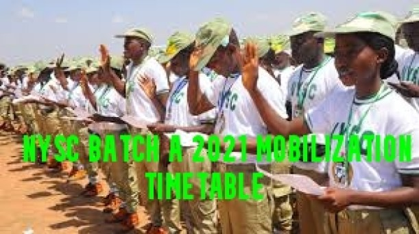 NYSC Batch A 2021 Mobilization Timetable