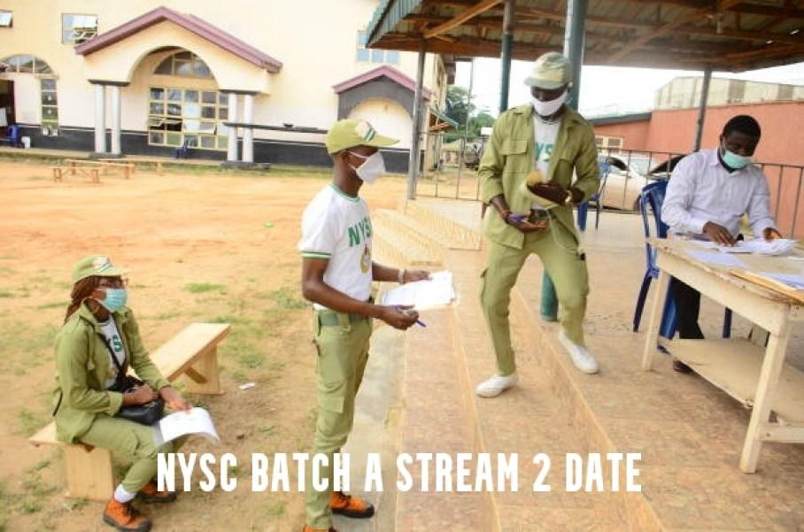 NYSC Batch A Stream 2 Date