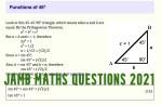 JAMB Maths Questions 2021 – Possible JAMB Questions