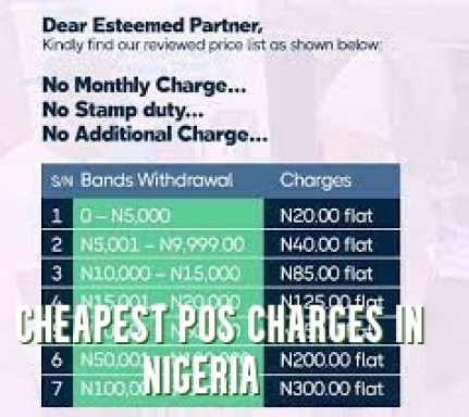 Cheapest POS Charges in Nigeria