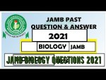 JAMB Biology Questions 2021 and Answers