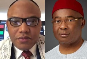 VIDEO: Hope Uzodinma has finally been caught as UGM strike when he tries to escape to Abuja