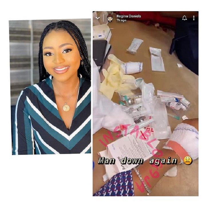 Regina Daniels rushed to the hospital again, fans reacts [photos/Video]