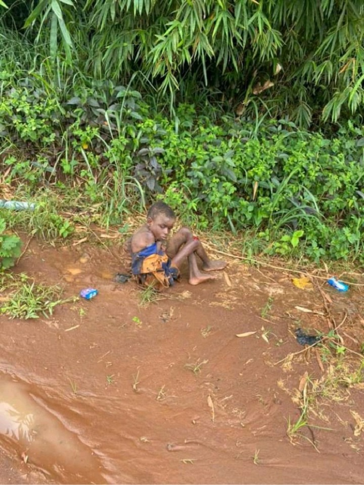 WICKEDNESS: Photos of little Boy Thrown Into Forest To Die After He Was Accused Of Witchcraft