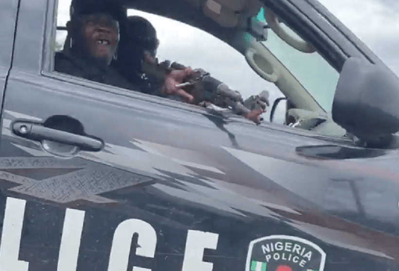 Watch Video of how popular Nigerian activist Narrowly Escapes Assassination by Police men (Photos, Video)