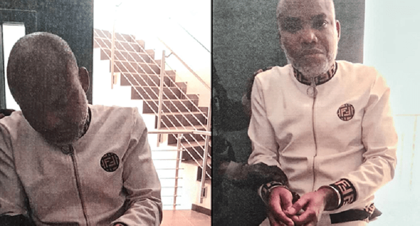 Nnamdi Kanu Was Dragged Into The Court In Chains - Eyewitness says [Watch Video]
