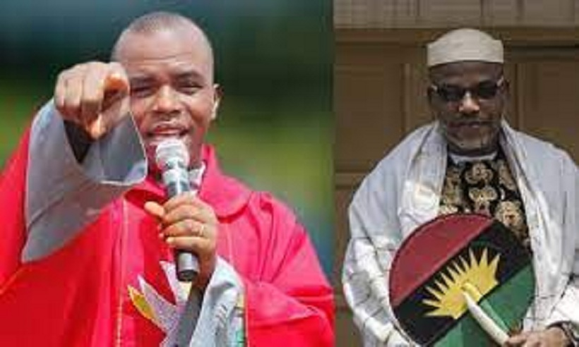Rev. Mbaka in a viral video makes fresh prophecy concerning Kanu, Bandits and FG [video]