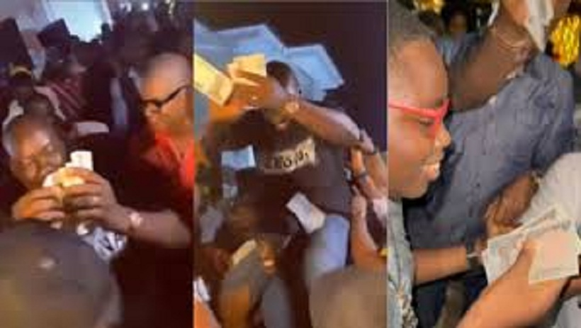 Moment Obi Cubana Scattered The Floor With Dance During His Mother's Funeral In Anambra State [Video]
