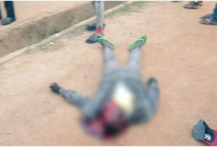 Tension as heavy protest begins after police officer shot an Okada Rider dead for overtaking them