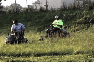 Mower Gang Helps Clean Up Detroit
