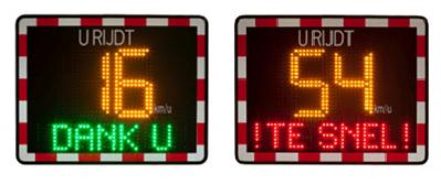 Snelheidsinformatiebord TE SNEL