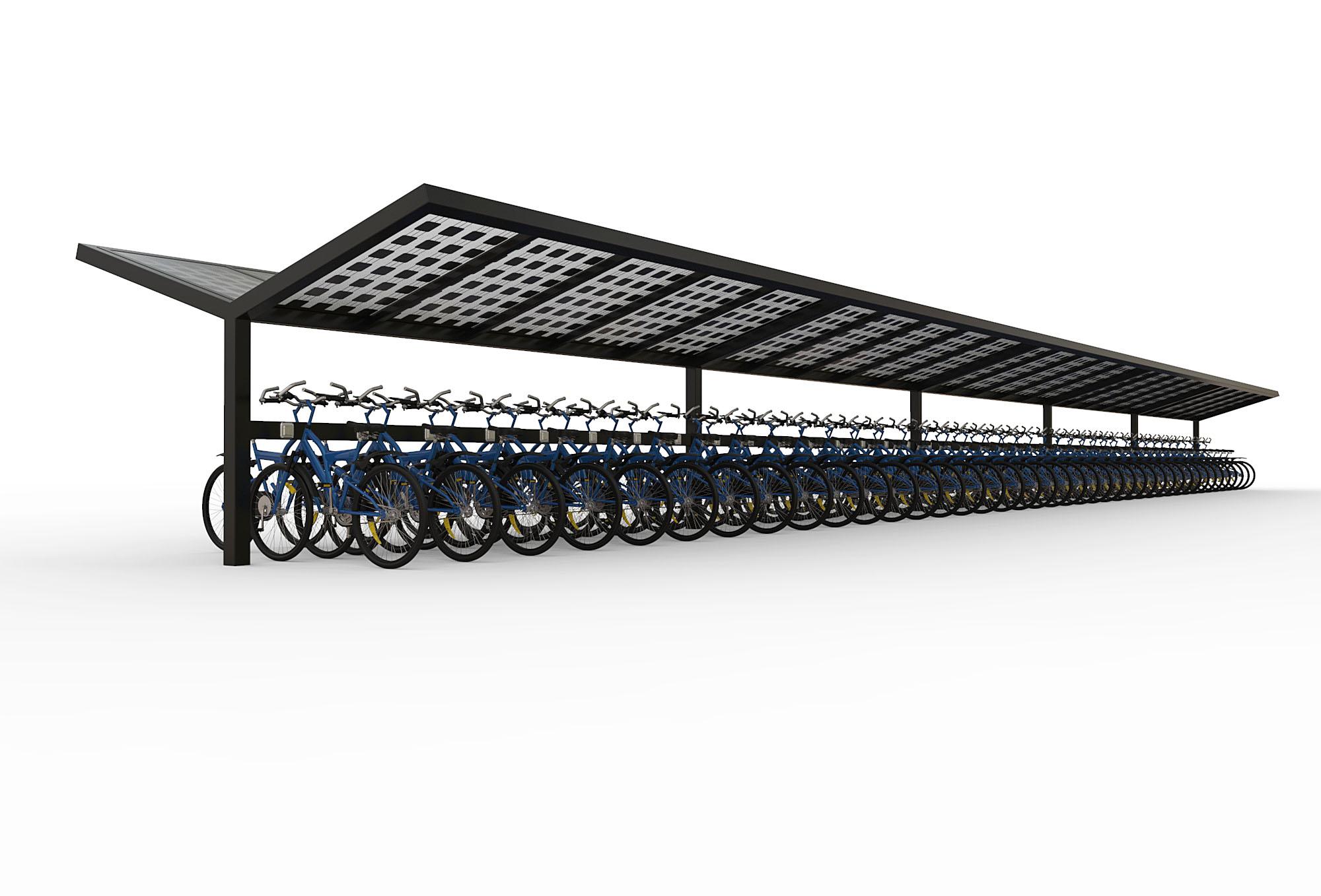 Solar fietsenstalling 20 meter