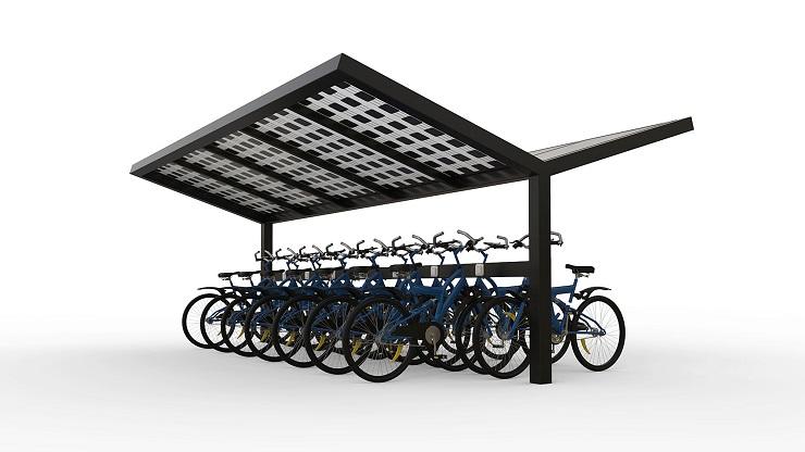 Fietsenstalling zonnepanelen