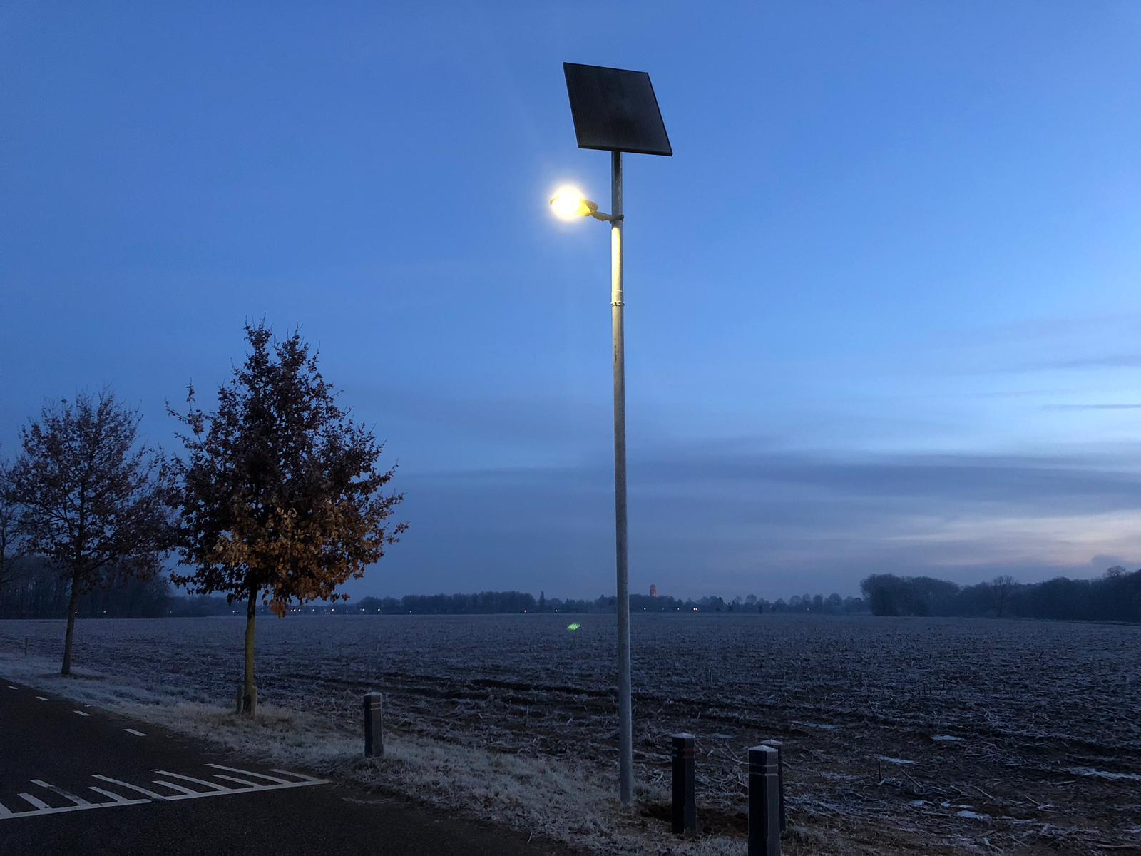 Solar lichtmast boxmeer