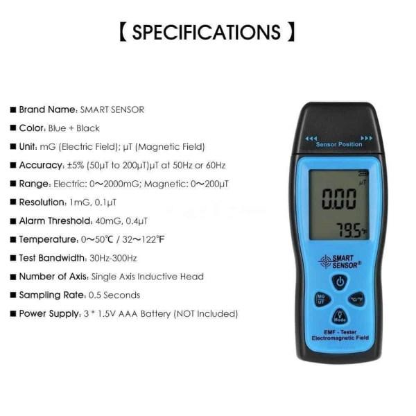 ghost hunting emf detector meter device KII