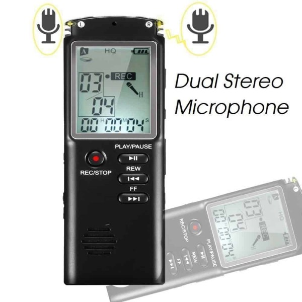 dual stereo microphone evp flac lossless high quality wav 1536kbps
