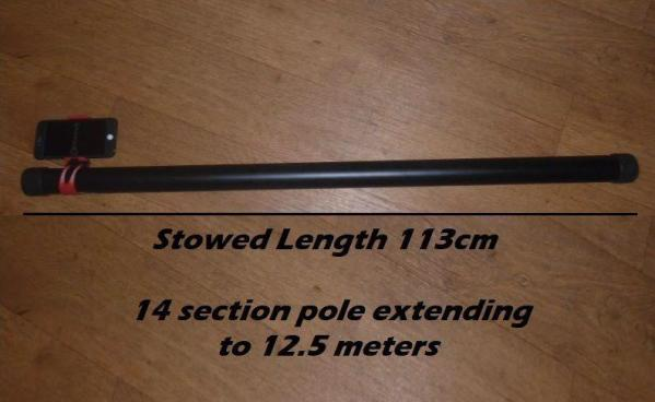 12 m meters elevated camera pole telescopic mast