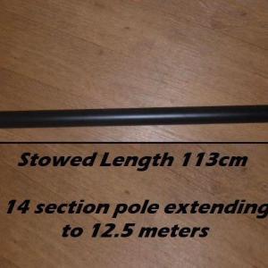 12 m meters elevated camera pole telescopic mast