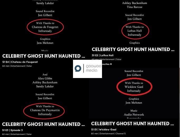Celebrity Ghost Hunt Equipment
