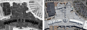 Aerial Infrared roof Survey of a Large Mall