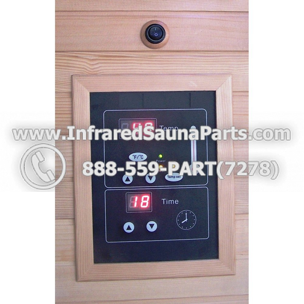 hight resolution of circuit board with face plate bamxsauna infrared sauna manual on off switch dual side