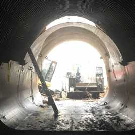CULVERT LINER DESIGNED FOR TRUCK PASSAGE