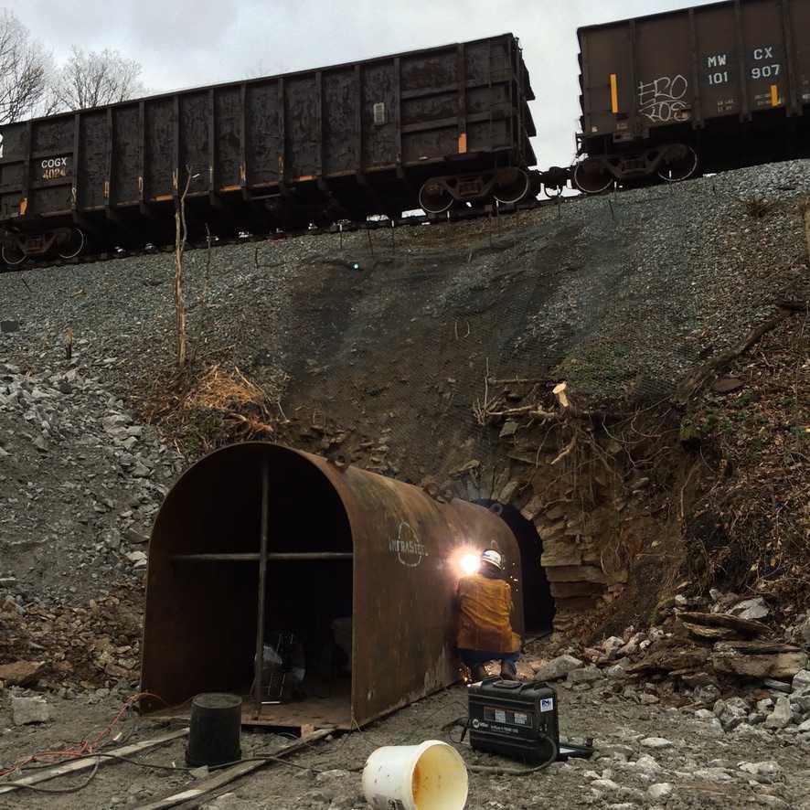 culvert liner under train tracks