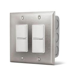 14 4305 dual ss wall plate w gang box [ 2048 x 1638 Pixel ]