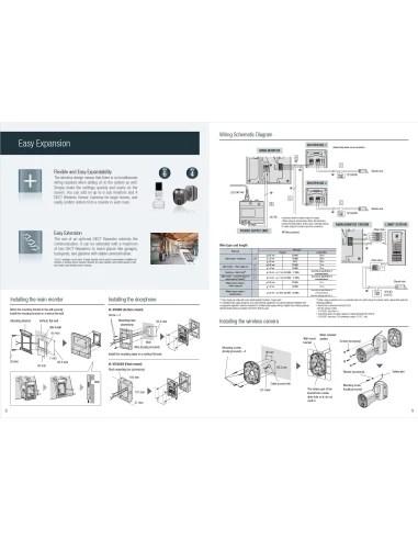 medium resolution of panasonic vl swd501bx wireless video intercom system home visitor recording door station