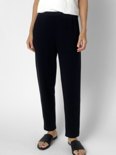 Eileen Fisher Cozy Slouch Pant- Blk