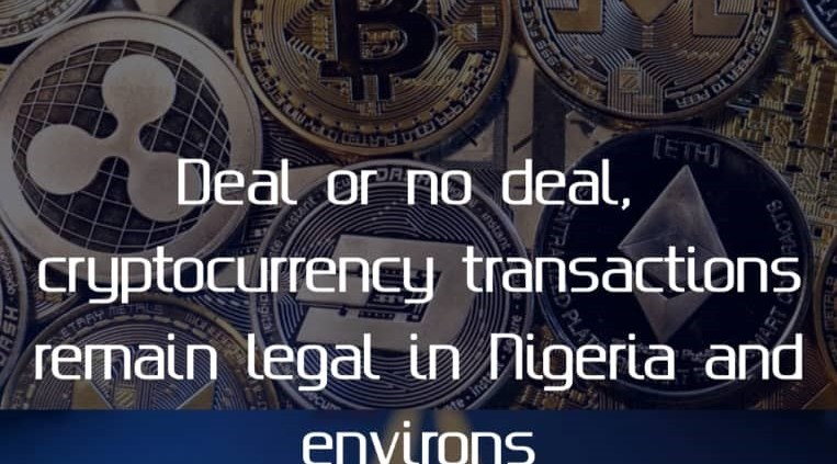 Deal or no deal, cryptocurrency transactions remain legal in Nigeria and environs_Blockchain Street, Infusion Lawyers