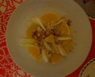 insalata noci finocchio arancia