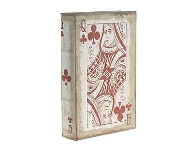 contenitore a libro in mdf e tessuto dalani
