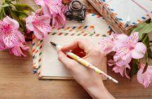 mujer-que-escribe-una-letra-42196930