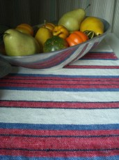 rustic linen towels