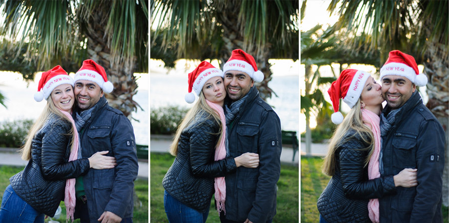 Couple-portrait-with-christmas-hats