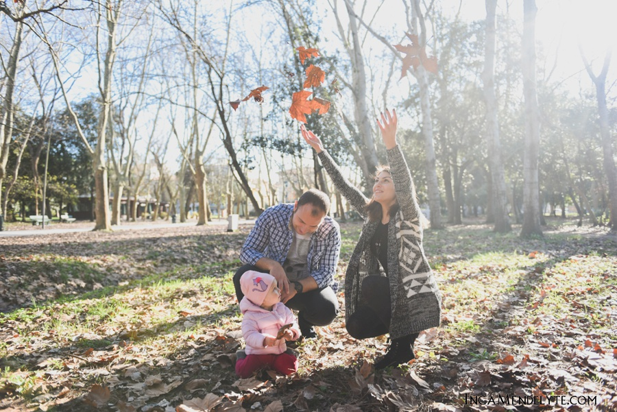 Family session in Viareggio park