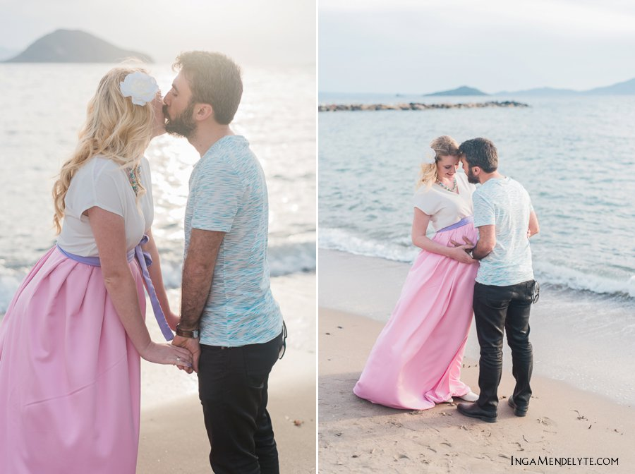 maternity session in Turgutreis beach