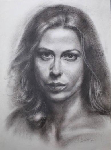 Beispiel 7 Portrait in Trockenpinsel-Technik