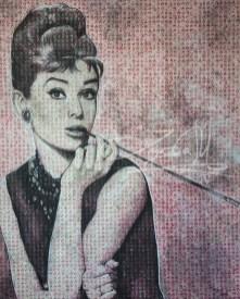 Audrey Hepburn 2017, Mixed Media, 150 x 180 cm