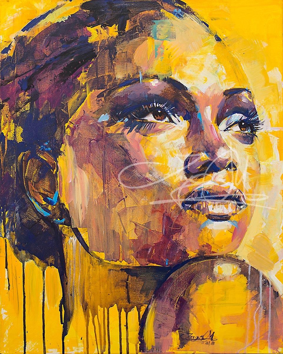 Inga Michailovic: Acryl Portrait, 2018, 75x58 cm