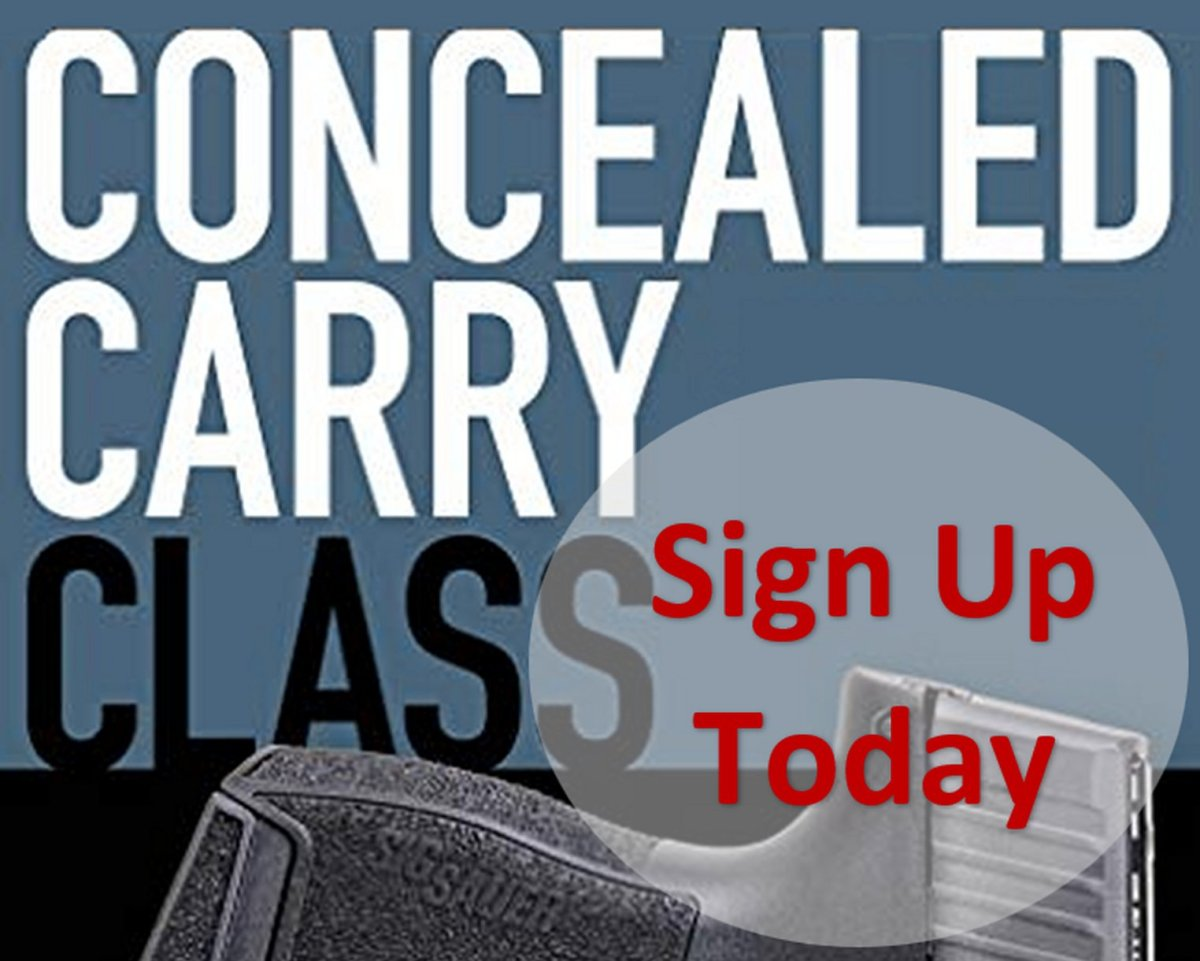 FREE CONCEALED CARRY CLASS OFFER – For those who registered for a 'hotel conducted' CCW class.