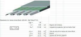 Plantilla Excel: Diseño de Losas Compuesta