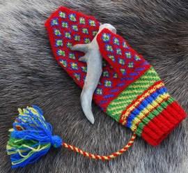 Red Sámi Mitten
