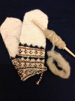 Skolt mittens w:Ptarmigan's Foot