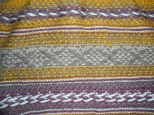 Paul first knitted a traditional pattern as a piece of fabric.
