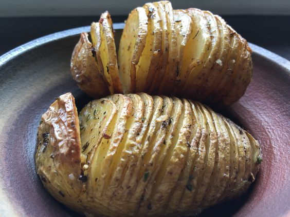 hasselback potatoes with lemon and cardamom
